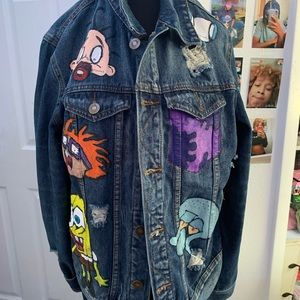 Customized jean jacket
